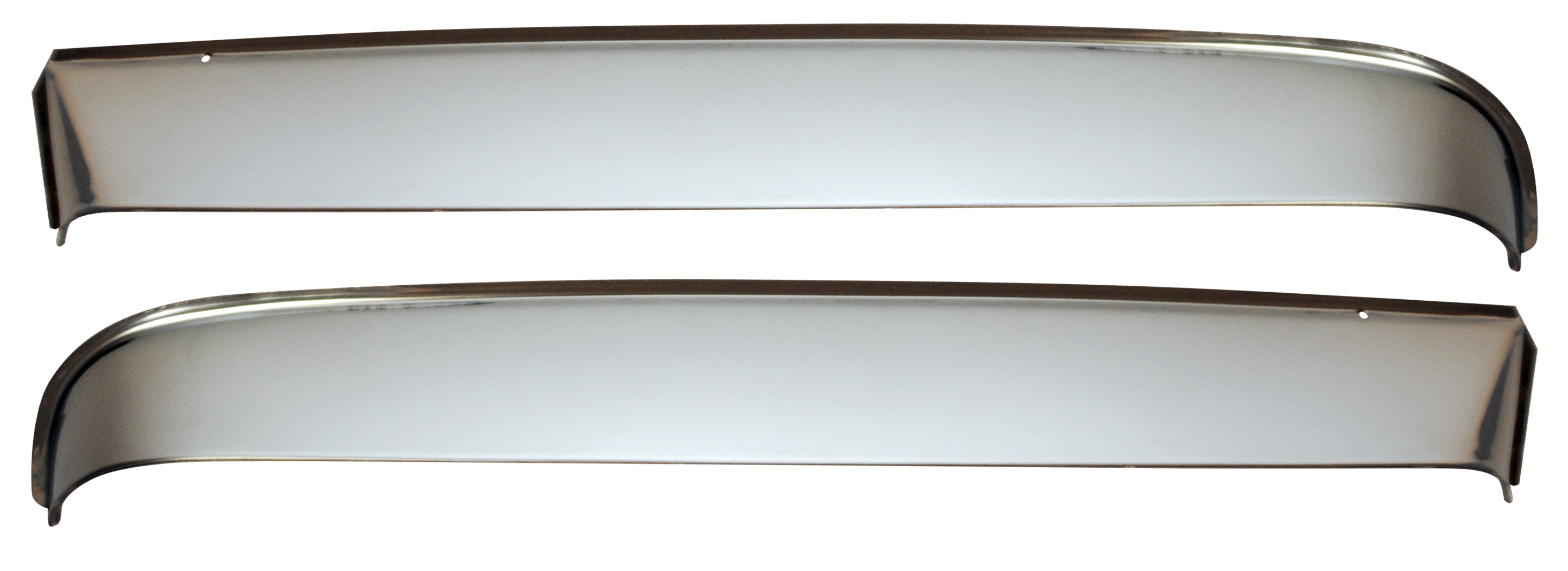 1951-55 1st series vent shades w/hardware polished