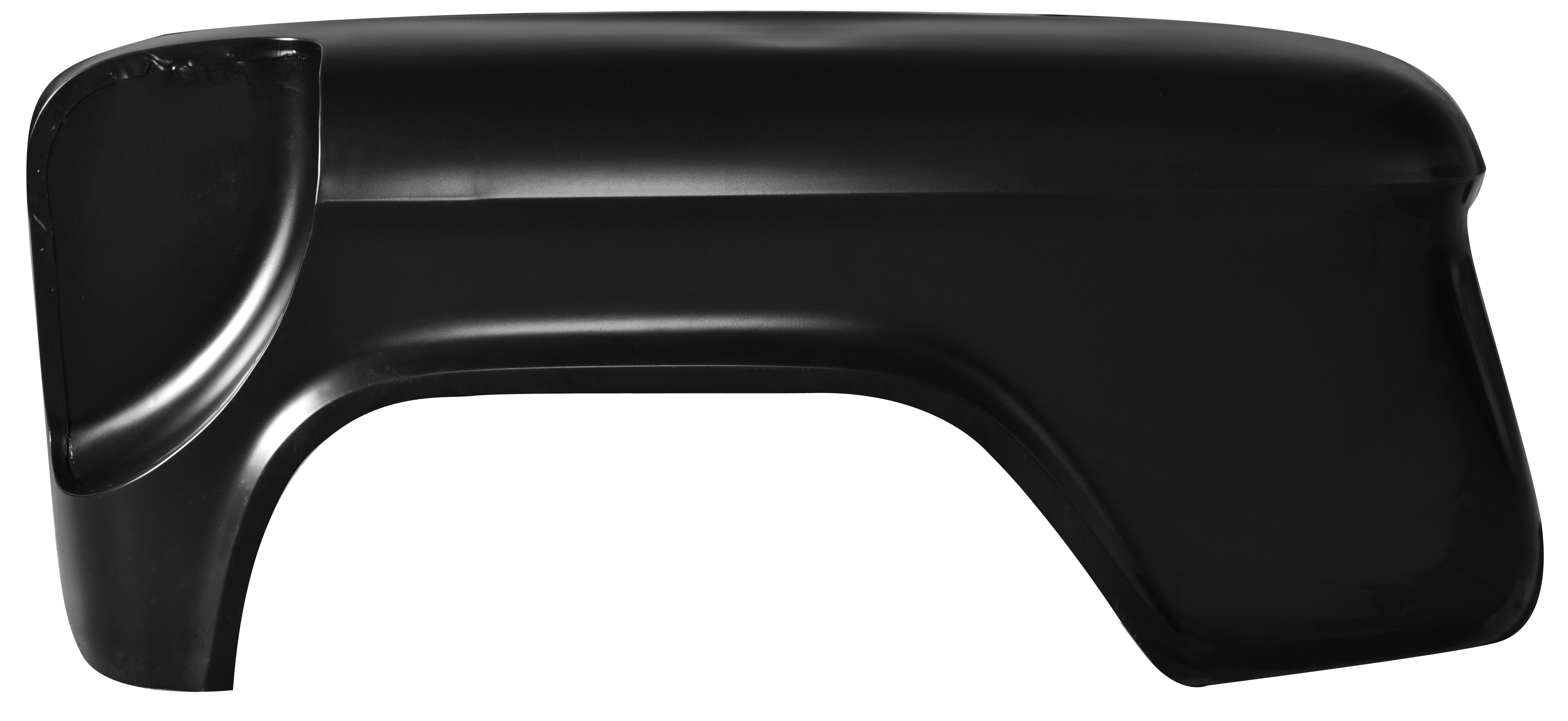 1955-66 C10 rear stepside fender w/spare tire cutout, longbed, lt