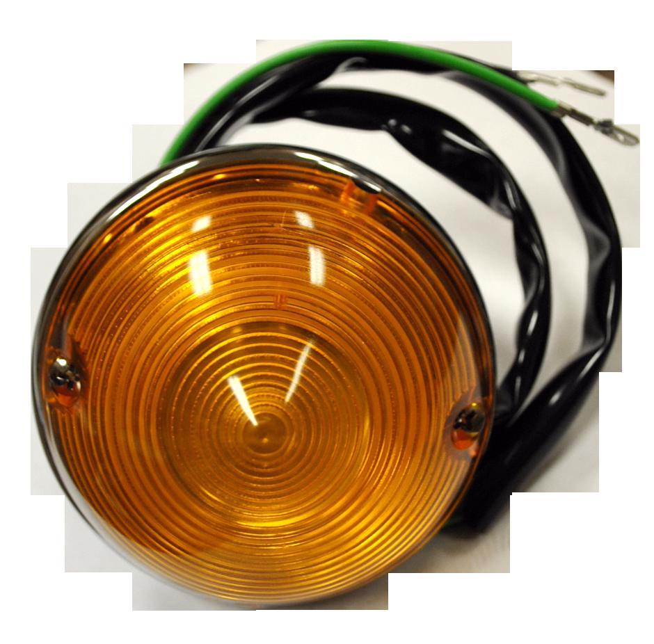 1955-57 C10 park light assembly amber lens