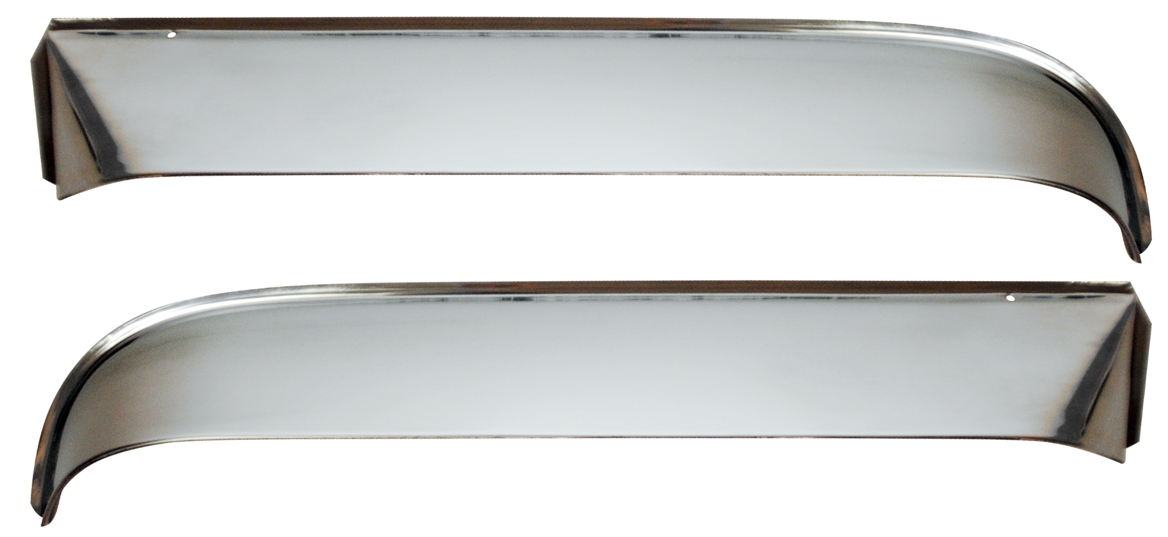 1955-59 C10 2nd series vent shades w/hardware polished