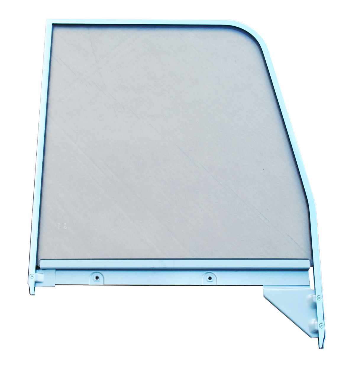 1955-59 Gm Truck door glass with chrome trim rt