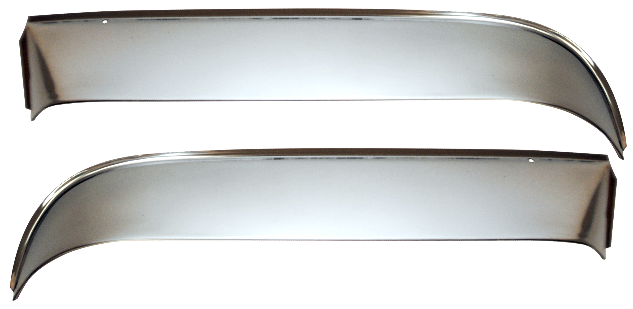 1960-63 C10 vent shades w/hardware polished stainless