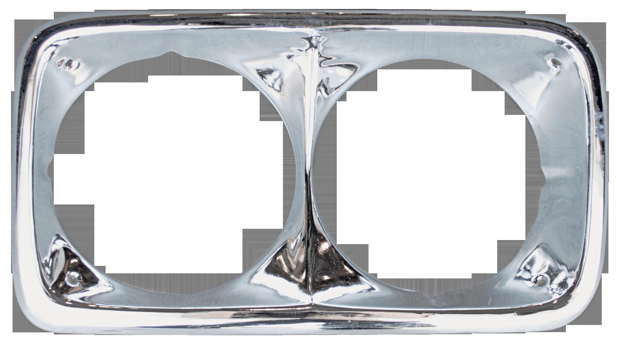 1969-72 GMC chrome headlamp bezel rt