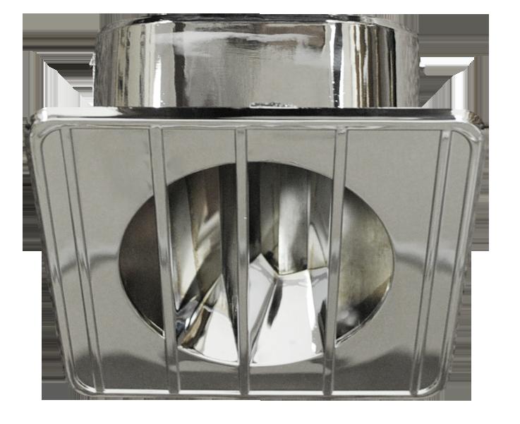 1967-72 C10 defrost top vent chrome lt