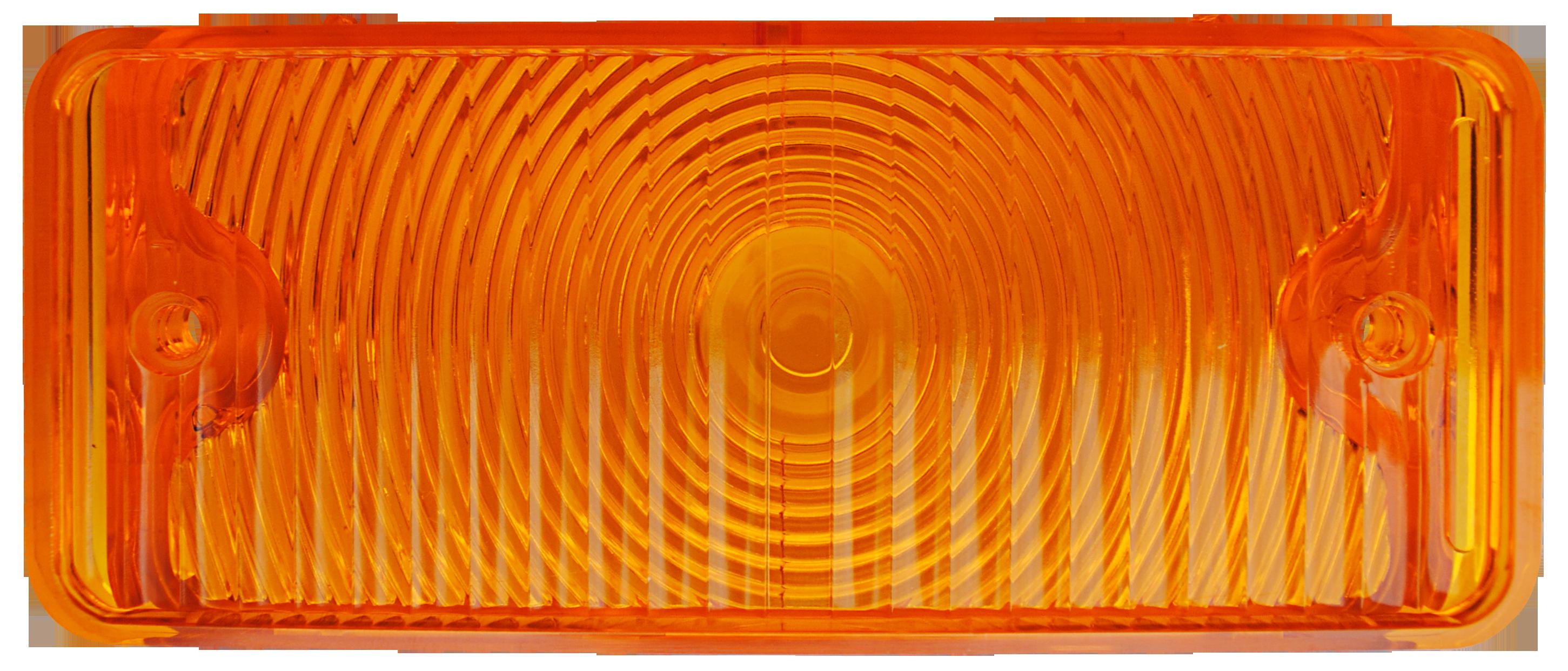 1967-68 C10 park lamp lens amber lt