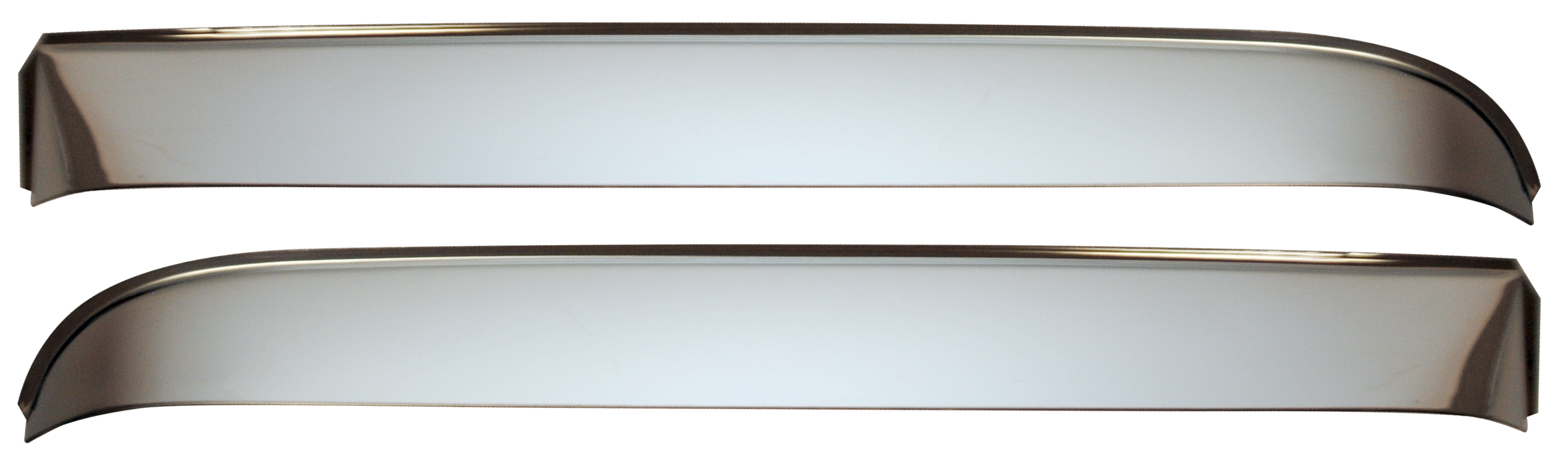 1967-72 C10 Vent shades w/hardware polished stainless