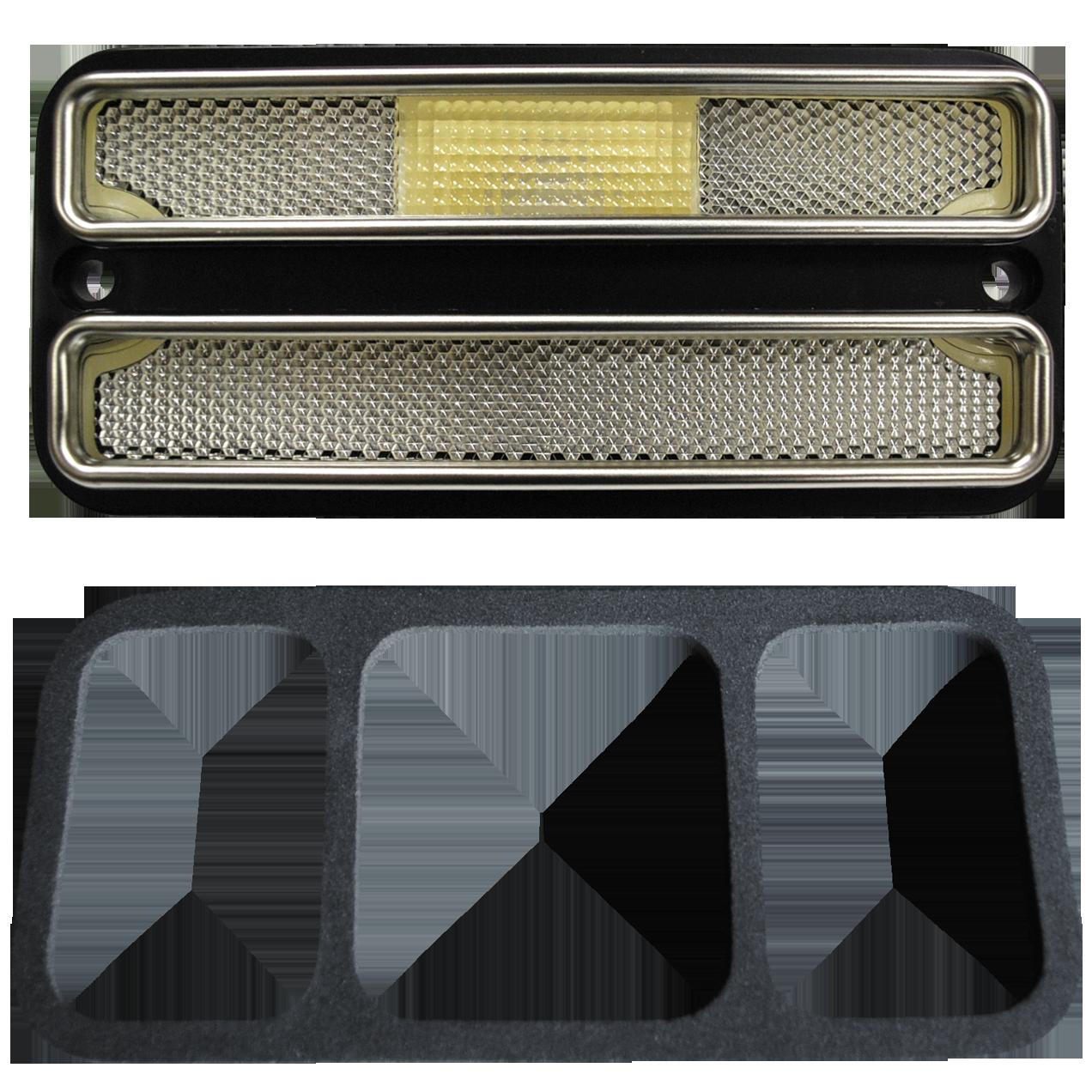 1968-72 C10 side marker deluxe clear front/rear