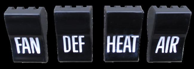 1960-63 C10 deluxe heater control knob set