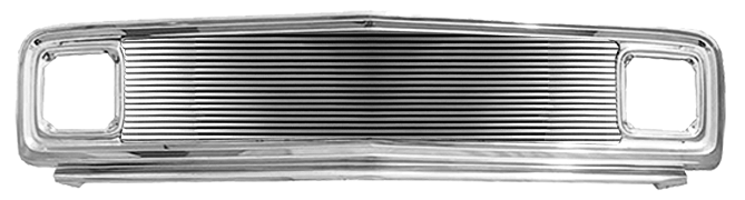 1969-72 C10 grille assembly chrome w/8mm billet insert