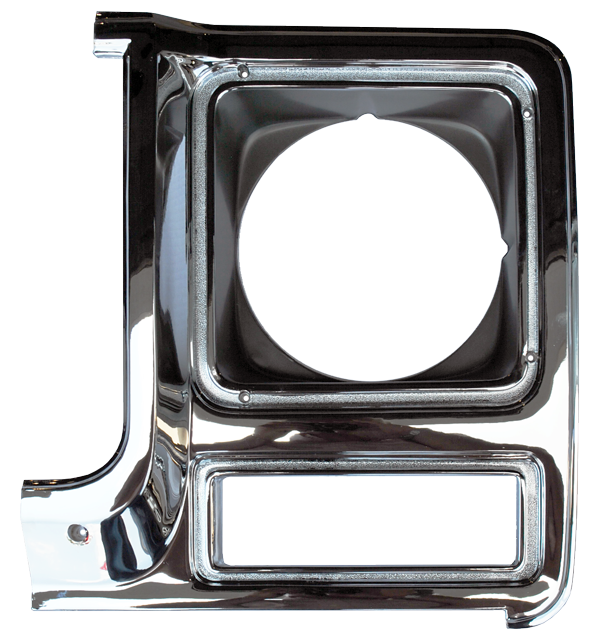 1979-80 GM Truck Headlight Door Chrome/Silver Lt