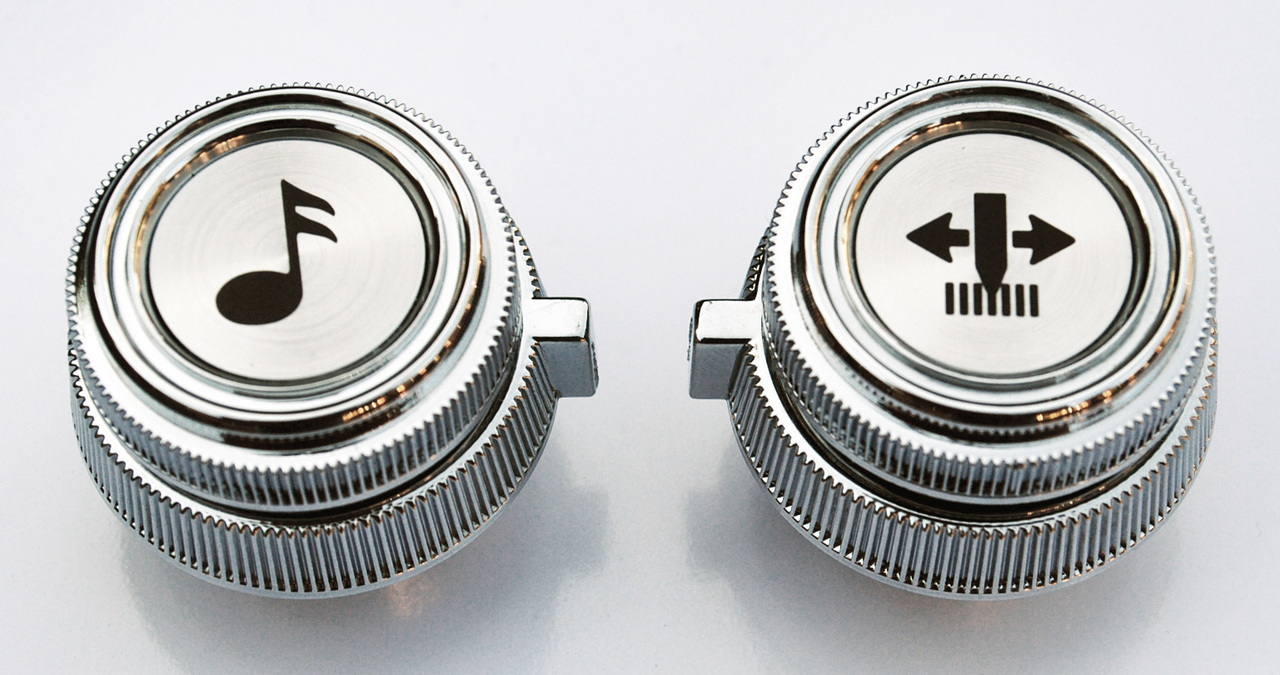 1978-87 GM Truck chrome radio knobs