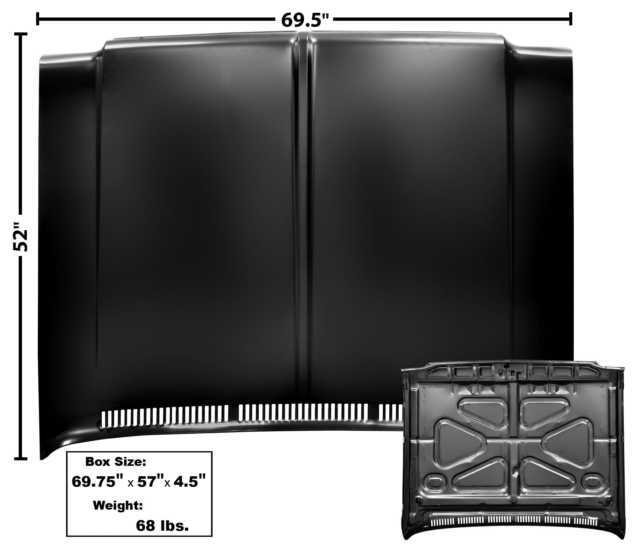 1973-80 C10 stock style hood