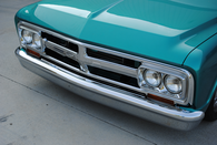 1967-70 C-10 custom smoothie front bumper chrome