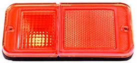 1968-72 GM truck side park lamp lens amber
