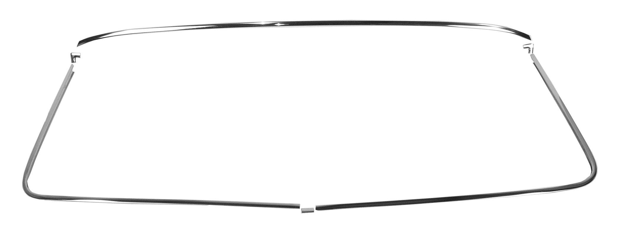 1967-70 C10 windshield trim w/clips