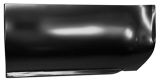 This lower front bed section, driver's side fits 1973-1987 Chevrolet and GMC Pickup trucks