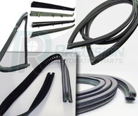 1960-63 GM Truck Complete Weatherstrip Kit w/Trim Groove