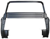 This 2nd Series full inner cab back, with big back glass, side fits 1955-1959 Chevrolet and GMC Pickup Trucks. Comes with inner cab corners and B pillars.