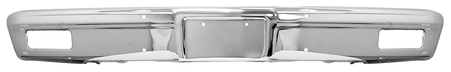This fromt chrome bumper without holes fits 1981-1982 Chevrolet and GMC Pickup trucks and 1981-1982 Chevrolet Blazer and GMC Suburban and Jimmy