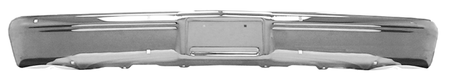 This front chrome bumper without holes fits 1983-1987 Chevrolet and GMC Pickup Trucks, 1983-1991 Chevrolet Blazers, Chevrolet and GMC Suburbans, and GMC Jimmys