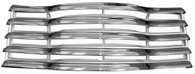 This chrome/ptd black grille assembly with rear bracket fits 1947-1953 Chevrolet Pickup Truck