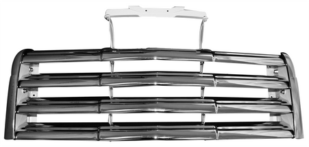 This chrome grille assembly fits 1947-1953 GMC Pickup Trucks.