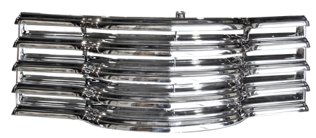 This all chrome grille with rear bracket fits 1947-1953 Chevrolet Pickup Truck