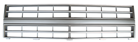 This light argent grille fits 1985-1987 Chevrolet Pickup with single headlight and w/o molding, 1985-1987 Chevrolet Suburban with single headlight and w/o molding, 1985-1987 Chevrolet Blazer with single headlight and w/o molding  REPLACES GM1200139