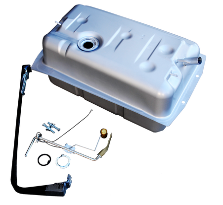 """This kit will fit 1969-1972  Chevrolet Blazer/Jimmy. This tank will also move and replace your stock 1967-72 Chevrolet or GMC truck fuel tank, to under the bed. This kit includes: •Fuel tank •Gas tank hangers •Fuel level sending unit •Lock and """"O"""" ring •Hanger bolts"""