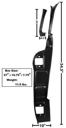 This A pillar frame fits 1955-59 Chevy and GMC trucks