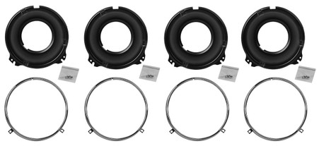 This headlight mounting bucket set has 8 pcs and fits 1958-66 Chevrolet and GMC trucks