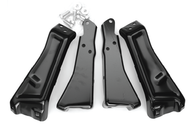 This fleetside pickup rear bumper bracket kit (includes frame to bracket hardware) for the Sport (standard) bumper, fits 1981-87 Chevrolet and GMC trucks