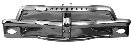 This chrome grille assembly fits 1954-55 Chevrolet trucks