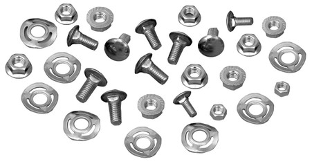 This complete bumper bolt kit fits 1965-68 Ford Mustangs