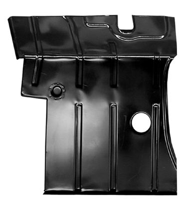 This 2nd Series cab floor pan, driver's side fits 1955-1959 Chevrolet Pickup Truck and 1955-1969 GMC Pickup Truck
