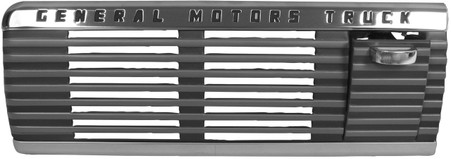 "This dash speaker grille with ashtray and ""General Motors Truck"" emblem fits 1947-53 GMC trucks."