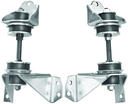 These front V8 engine mounts fit 1955-59 Chevroleet and GMC trucks