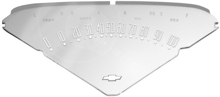 This instrument cluster lens fits 1955-59 Chevrolet and GMC trucks
