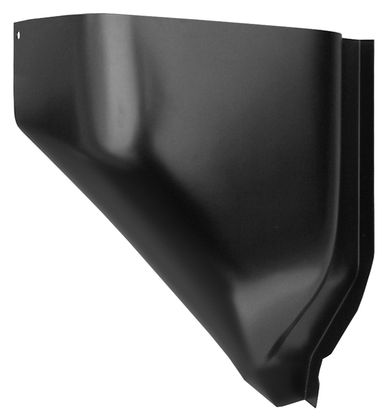 This 2nd Series lower section air vent cowl, driver's side fits 1955-1959 Chevrolet Pickup Truck and 1955-1959 GMC Pickup Truck