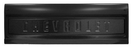 This GM licensed, Chevrolet logo fleetside tailgate fits 1955-1959 2nd Series Chevrolet Pickup Truck and 1960-1966 Chevrolet Pickup Truck
