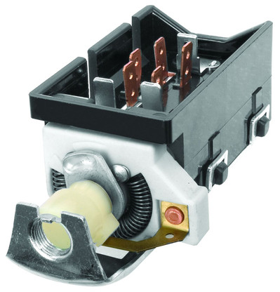 This headlamp switch fits 1957-63 Chevrolet cars.