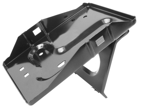 This top clamp style battery tray fits 1965-66 Ford Mustangs.