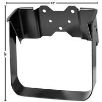 This windshield washer bottle bracket fits 1967-72 Chevrolet and GMC trucks.