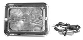 This clear, 6v park lamp assembly fits 1954-55 Chevrolet and GMC trucks.