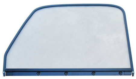 This 1st Series door window glass (clear) assembly, with painted trim, driver's side fits 1947-1955 Chevrolet and GMC Pickup Trucks