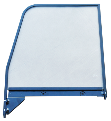 This 2nd Series door glass assembly (clear), with painted trim, driver's side fits 1955-1959 Chevrolet and GMC Pickup Trucks