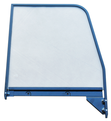 This 2nd Series door glass assembly (clear), with painted trim, passenger's side fits 1955-1959 Chevrolet and GMC Pickup Trucks