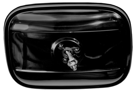 This 2nd Series rectangular, black outside mirror, LH=RH, fits 1947-72 Chevrolet and GMC Pickup Trucks