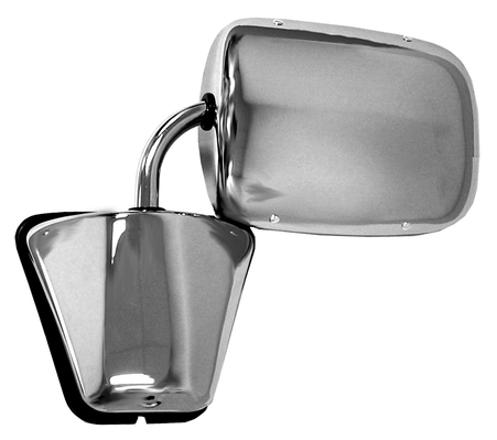 This stainless steel door mirror fits 1973-1987 Chevrolet and GMC Pickups and Blazers