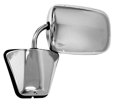 This door mirror (chrome) fits 1973-1987 Chevrolet and GMC Pickups and Blazers